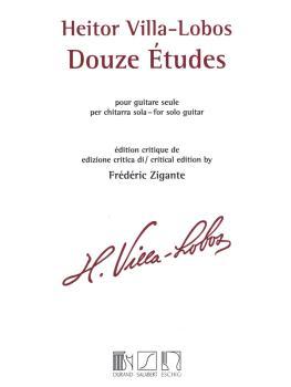 Heitor Villa-Lobos - 12 Études (Solo Guitar) (HL-50565484)