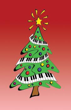 Recital Program #38 - Keyboard Christmas Tree (HL-00645290)
