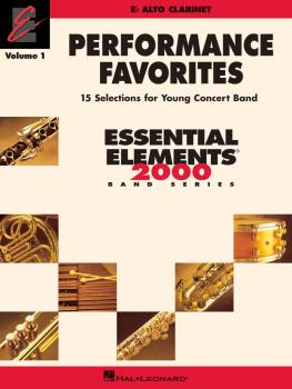 Performance Favorites, Vol. 1 - Alto Clarinet: Correlates with Book 2  (HL-00860187)