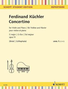 Concertino G Major, Op. 11 (for Violin and Piano Schott Student Editio (HL-49045440)