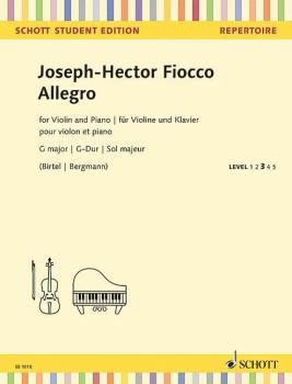 Allegro in G Major: Violin and Piano - Schott Student Edition Level 3 (HL-49045546)
