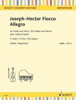 Allegro in G Major: Violin and Piano - Schott Student Edition Level 3 (HL-49045546)