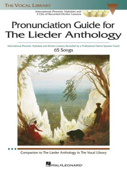 The Lieder Anthology - Pronunciation Guide: International Phonetic Alp (HL-00000452)