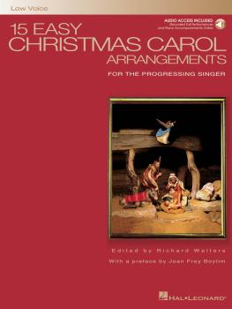15 Easy Christmas Carol Arrangements - Low Voice (for the Progressing  (HL-00000460)