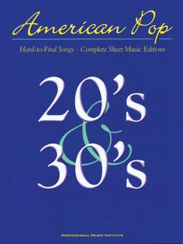 American Pop - 20s and 30s Hard to Find Songs (HL-00001390)