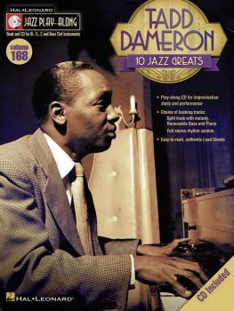 Tadd Dameron: Jazz Play-Along Volume 168 (HL-00103663)