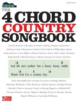The 4-Chord Country Songbook - Strum & Sing (HL-00114936)