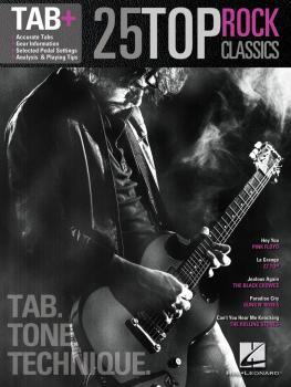 25 Top Rock Classics - Tab. Tone. Technique. (Tab+) (HL-00120976)