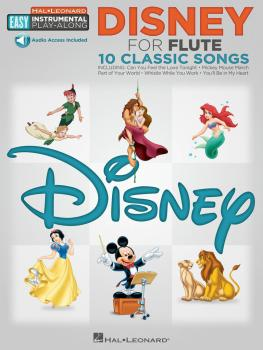 Disney: Flute Easy Instrumental Play-Along Book with Online Audio Trac (HL-00122184)