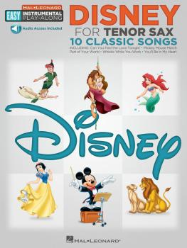 Disney: Tenor Sax Easy Instrumental Play-Along Book with Online Audio  (HL-00122187)