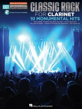 Classic Rock: Clarinet Easy Instrumental Play-Along Book with Online A (HL-00122196)