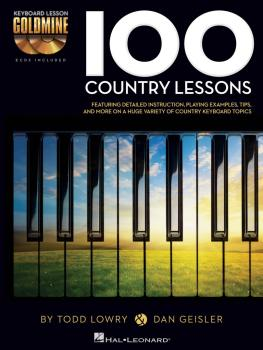 100 Country Lessons: Keyboard Lesson Goldmine Series Book/2-CD Pack (HL-00122265)