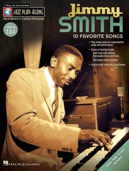 Jimmy Smith: Jazz Play-Along Volume 184 (HL-00126943)