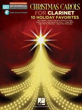Christmas Carols: Clarinet Easy Instrumental Play-Along Book with Onli (HL-00130364)