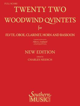 22 Woodwind Quintets - New Edition (Woodwind Quintet) (HL-00156532)