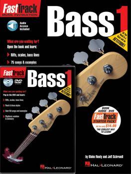 FastTrack Bass Method Starter Pack: Book/Online Audio/DVD Pack (HL-00696404)