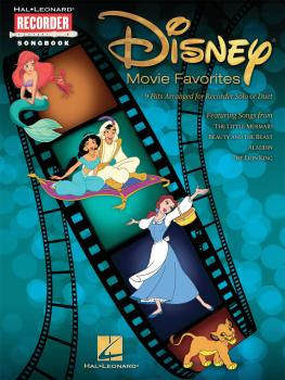 Disney Movie Favorites: 9 Hits Arranged for Recorder Solo or Duet (HL-00710409)