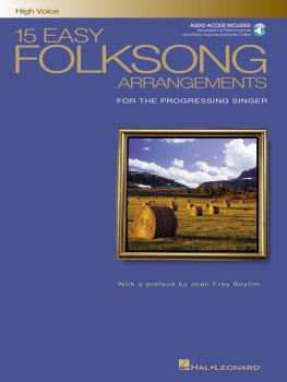 15 Easy Folksong Arrangements: High Voice Introduction by Joan Frey Bo (HL-00740268)
