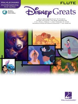 Disney Greats (for Flute Instrumental Play-Along Pack) (HL-00841934)