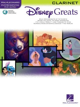 Disney Greats (for Clarinet Instrumental Play-Along Pack) (HL-00841935)
