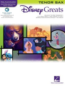Disney Greats (for Tenor Sax Instrumental Play-Along Pack) (HL-00841937)