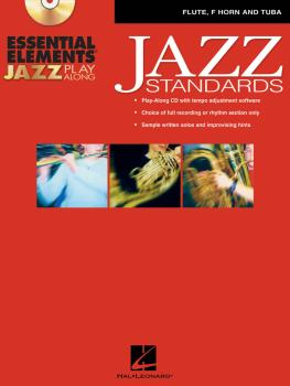 Essential Elements Jazz Play-Along - Jazz Standards: Flute, F Horn and (HL-00841988)