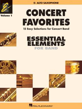 Concert Favorites Vol. 1 - Eb Alto Sax: Essential Elements 2000 Band S (HL-00860125)