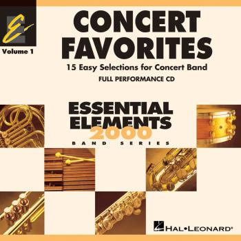 Concert Favorites Vol. 1 - CD: Essential Elements 2000 Band Series (HL-00860136)