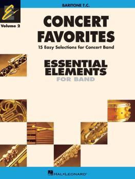 Concert Favorites Vol. 2 - Baritone T.C.: Essential Elements 2000 Band (HL-00860174)