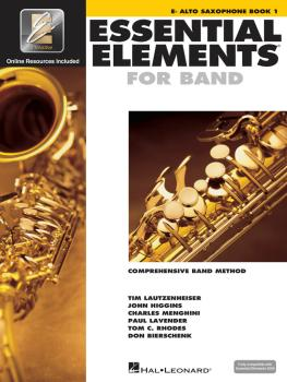 Essential Elements for Band - Eb Alto Saxophone Book 1 with EEi (HL-00862572)