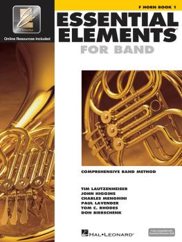 Essential Elements for Band - F Horn Book 1 with EEi (HL-00862576)