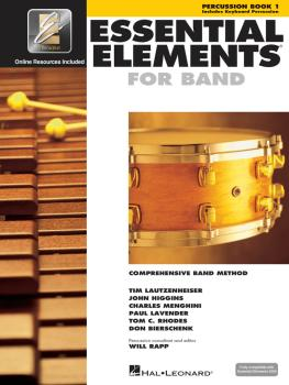 Essential Elements for Band - Percussion/Keyboard Percussion Book 1 wi (HL-00862582)