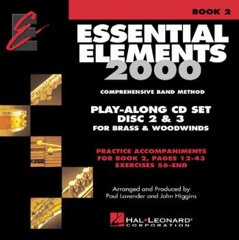 Essential Elements 2000 - Book 2 Play-Along CD Set: Brass/Woodwinds -  (HL-00862606)