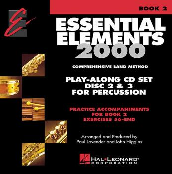 Essential Elements 2000 - Book 2 Play-Along CD Set: Percussion - Discs (HL-00862609)
