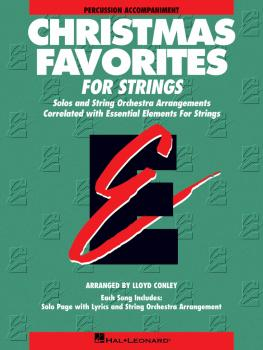 Essential Elements Christmas Favorites for Strings: Percussion Accompa (HL-00868029)