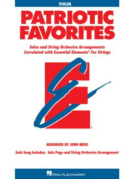 Patriotic Favorites for Strings: Violin Book Parts 1/2 (HL-00868064)