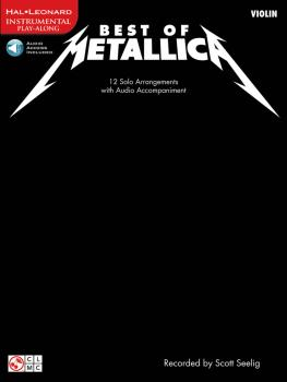 Best of Metallica for Violin: 12 Solo Arrangements with CD Accompanime (HL-02501334)