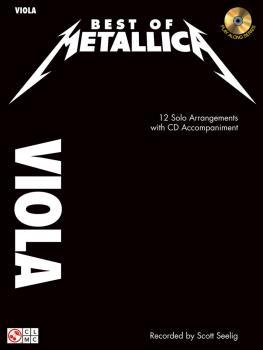 Best of Metallica for Viola: 12 Solo Arrangements with CD Accompanimen (HL-02501335)