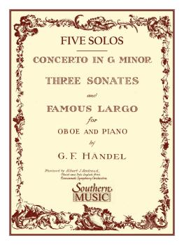 Three Sonates Famous Largo (Concerto G Minor) (Oboe) (HL-03770183)
