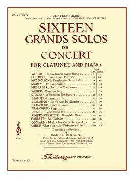 16 Grand Solos de Concert (Clarinet) (HL-03770186)