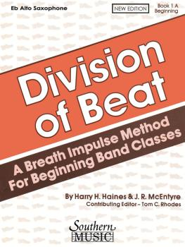 Division of Beat (D.O.B.), Book 1A: Alto/Baritone Saxophone (HL-03770463)