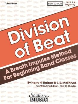 Division of Beat (D.O.B.), Book 1A (Tuba/Bass) (HL-03770467)