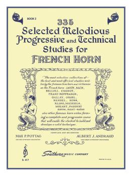 335 Selected Melodious Progressive & Technical Studies (Horn) (HL-03770622)