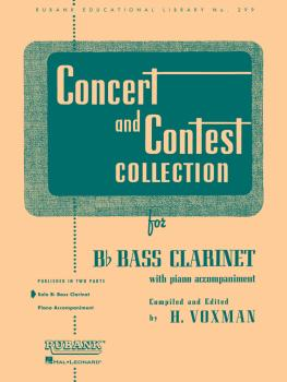 Concert and Contest Collection for Bb Bass Clarinet (Solo Part) (HL-04471650)