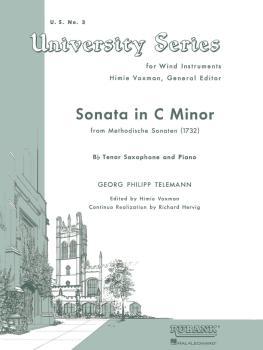 Sonata in C Minor (from Methodische Sonaten): Tenor Saxophone Solo wit (HL-04471910)
