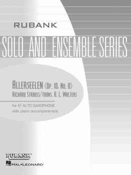Allerseelen: Alto Saxophone Solo with Piano - Grade 2 (HL-04476942)