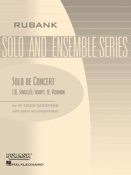 Solo de Concert, Op. 83: Tenor Saxophone Solo with Piano - Grade 4 (HL-04477549)
