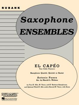 El Capeo (Paso Doble Flamenco): Flexible Saxophone Ensemble - Grade 3 (HL-04479581)