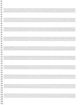 74. Spiral Book: 10-stave: Passantino Manuscript Paper (HL-14025117)