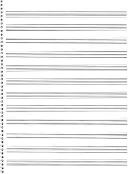 75. Spiral Book: 12-stave: Passantino Manuscript Paper (HL-14025118)